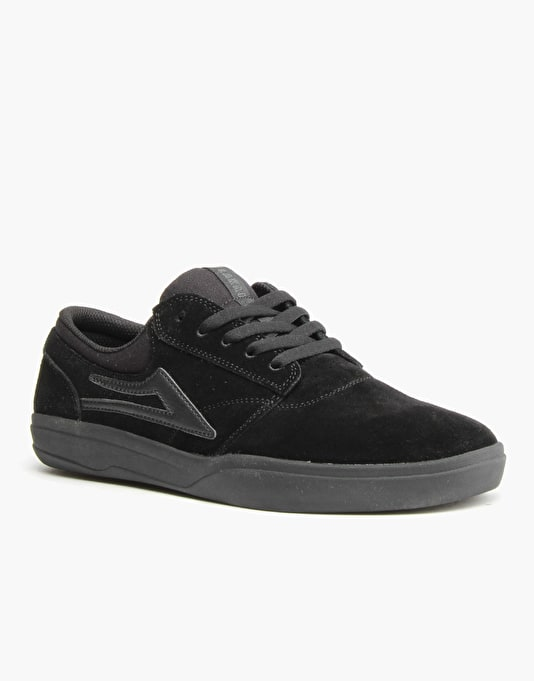 Lakai Griffin XLK Skate Shoes - Black/Black Suede