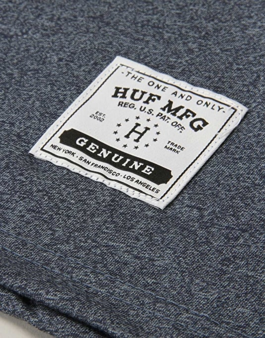 HUF Premium Heather Henley - Navy