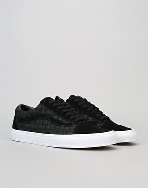 Vans Old Skool Skate Shoes - (Suede Checkers) Black