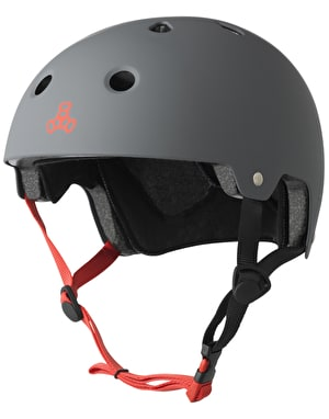 Triple 8 Brainsaver EPS Helmet - Gunmetal Grey Rubber