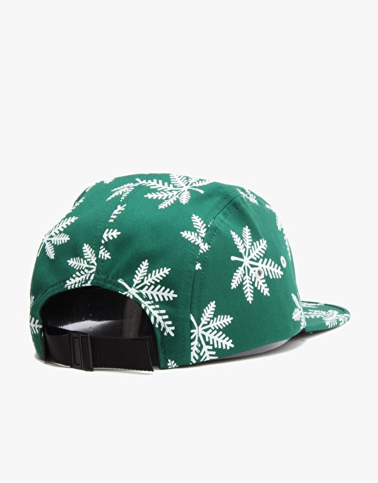 HUF Snowlife Volley 5 Panel Cap - Green