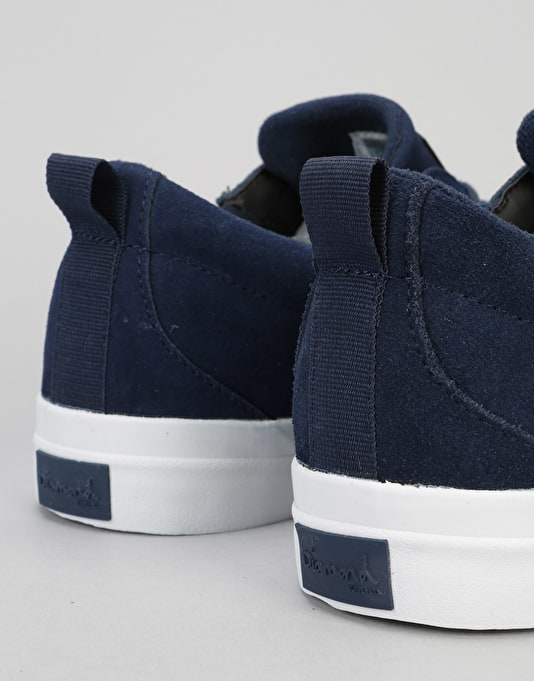 Diamond Supply Co. Icon Skate Shoes - Navy Suede