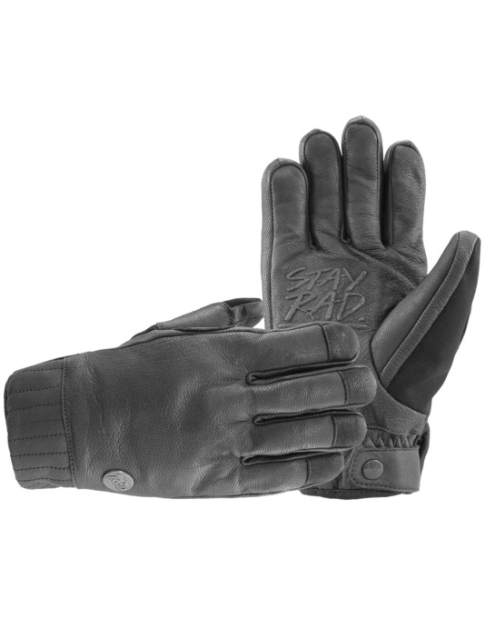 Radical Gloves The Crisp 2016 Snowboard Mitts - All Black