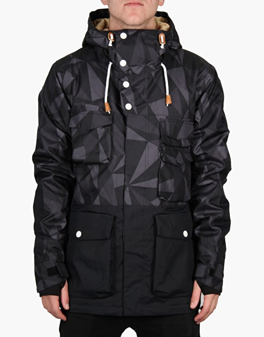 Colour Wear Shelter 2016 Snowboard Jacket - Black Ceramic