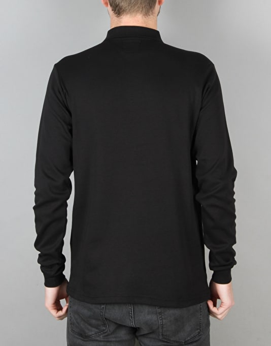 Route One Triple OG LS Polo Shirt - Black