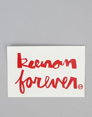 HUF x Chocolate Keenan Forever Sticker - Red