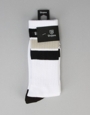 Brixton Elmore Socks - White/Black