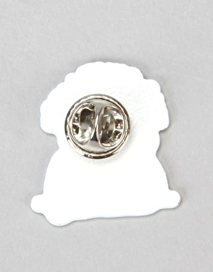 The Quiet Life Smoking Girl Lapel Pin - Multi