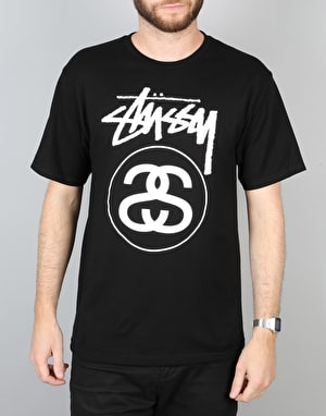 Stüssy Stock Link T-Shirt – Black