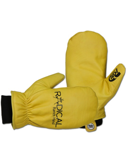 Radical Gloves The Ranch Hand 2016 Snowboard Mitts - Labor Yellow