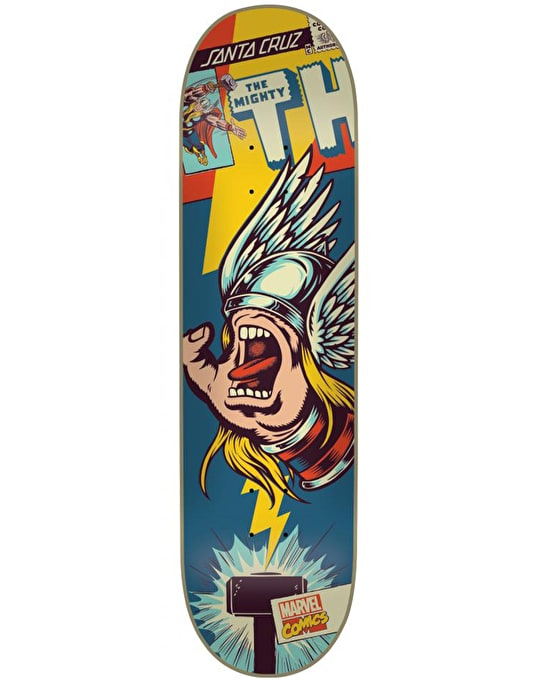 Santa Cruz x Marvel Comics Thor Hand Team Deck - 8.25""