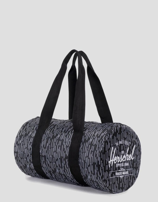 Herschel Supply Co. Packable Duffel Bag - Black/White Rain Camo