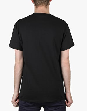 Thrasher Blackout T-Shirt - Black/Red