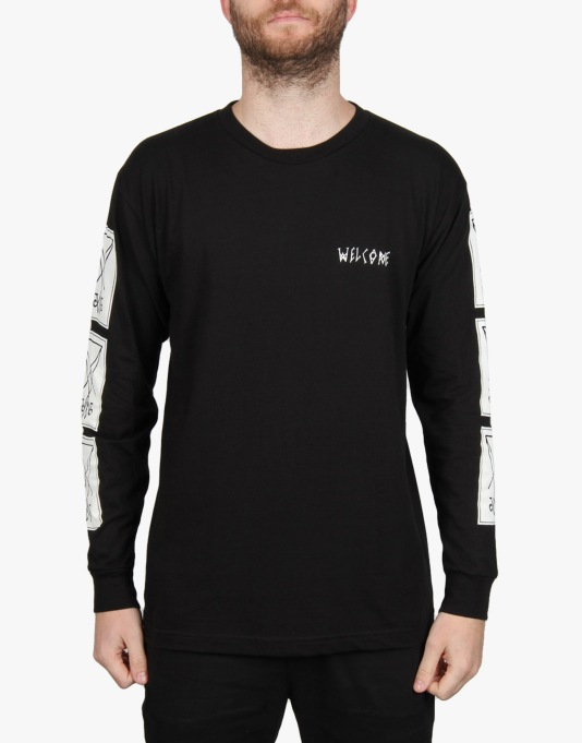 Welcome Symbols L/S T-Shirt - Black/White