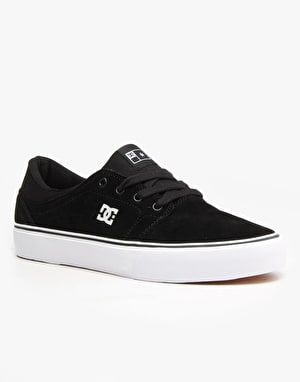 DC Trase S Skate Shoes - Black/White
