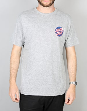 Santa Cruz Small Dot T-Shirt - Dark Heather