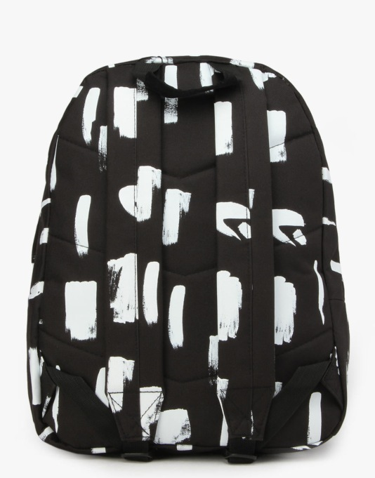 Hype Brush Strokes Backpack - Black/White