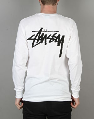 Stüssy Original Stock L/S T-Shirt - White