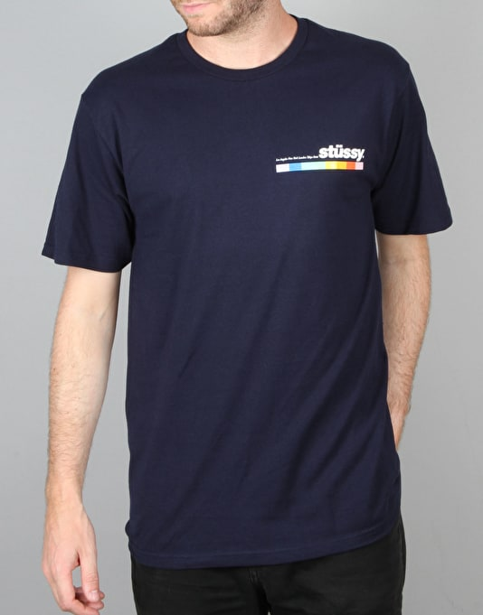 Stüssy Colour Bar T-Shirt - Navy
