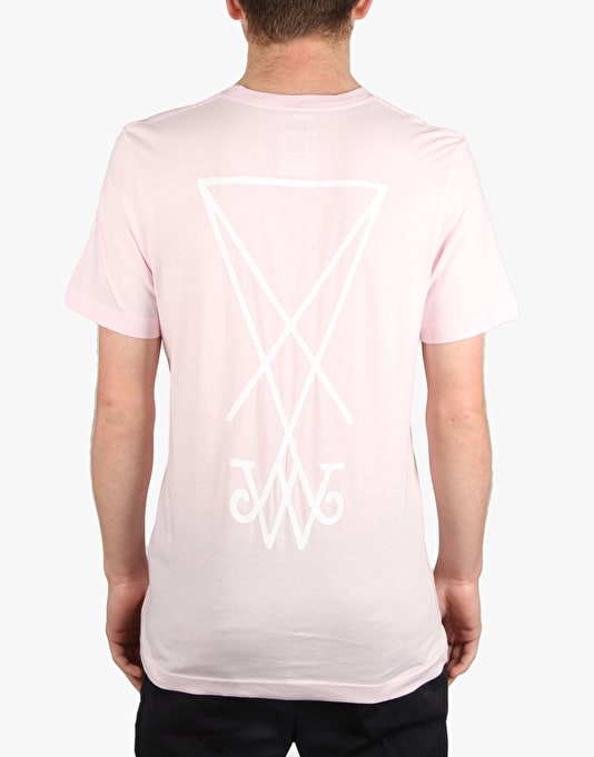 Welcome Symbol T-Shirt - Pink/White