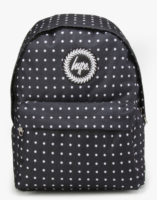 Hype Polka Dot Backpack - Black