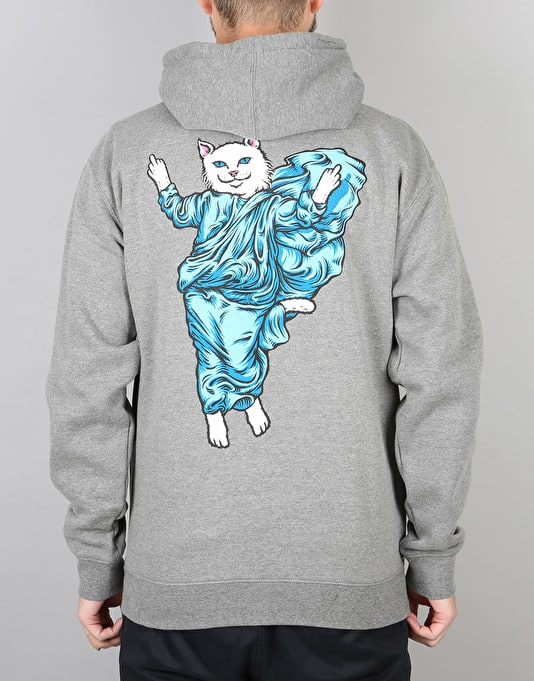 RIPNDIP Holy Lord Nermal Pullover Hoodie - Athletic Heather