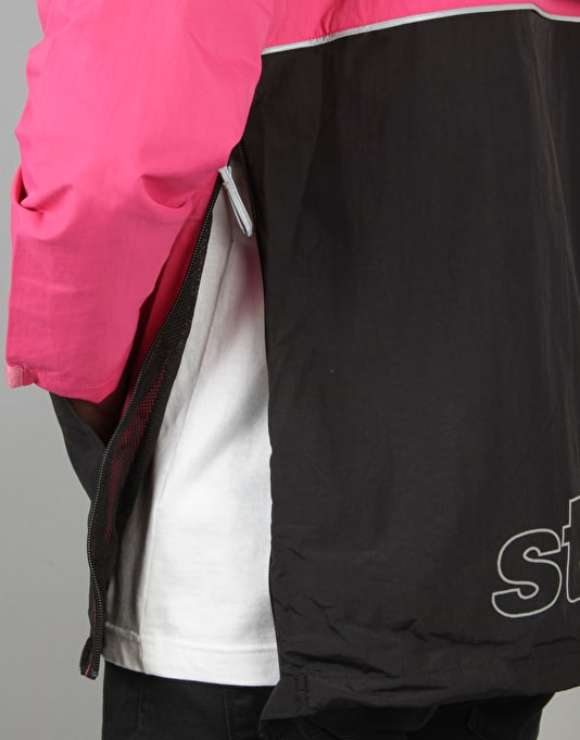 Stüssy Reflective Sports Pullover Jacket - Berry