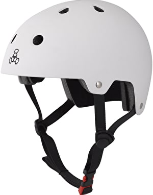 Triple 8 Brainsaver EPS Helmet - White Rubber
