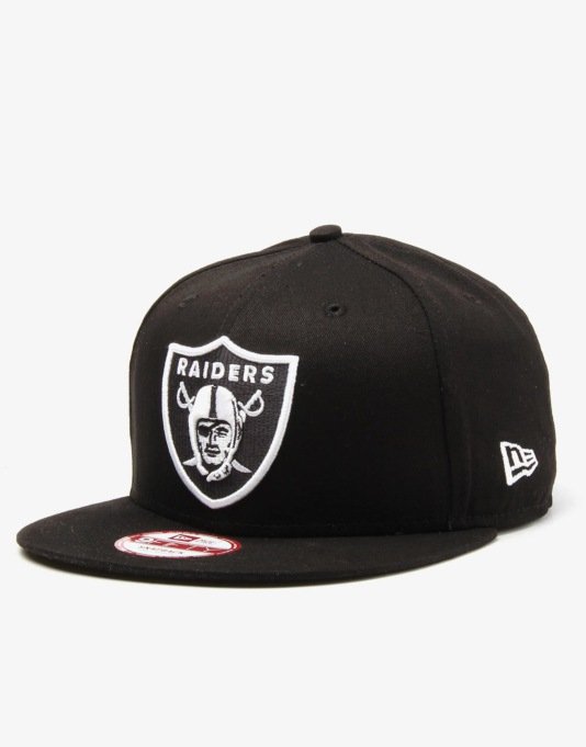 New Era NFL Oakland Raiders Basic Snapback Cap - Black