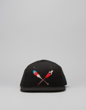 LRG Head Above Water Snapback Cap - Black