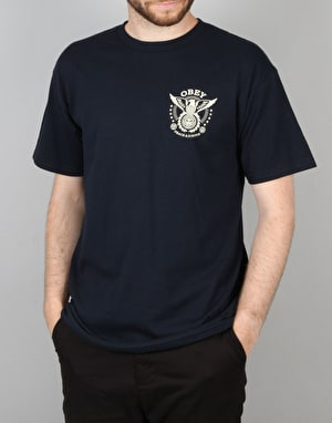 Obey Peace & Justice Eagle T-Shirt - Navy