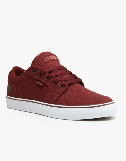 Etnies Barge LS Skate Shoes - Burgundy/Gum