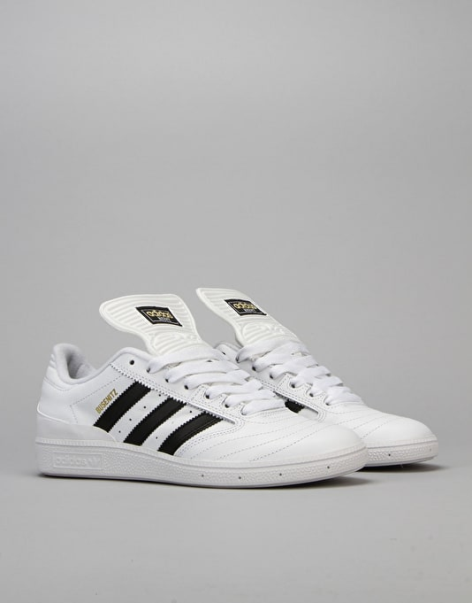 Adidas Busenitz Pro Skate Shoes - White/Core Black/ Gold Met.