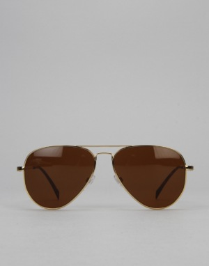 Electric AV1 Sunglasses - Gold/Medium Bronze