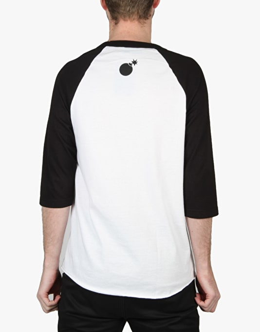 The Hundreds Slant Raglan T-Shirt - White/Black