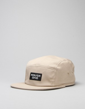 Route One Fastplant 5 Panel Cap - Khaki