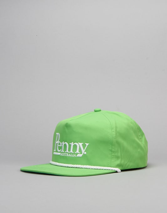 Penny Skateboards Snapback Cap - Lime Green/White