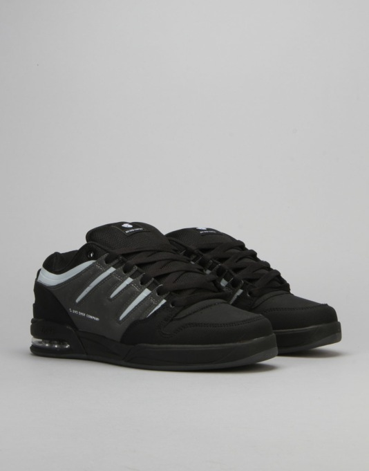 DVS Tycho Skate Shoes - Black/Grey/Grey Nubuck