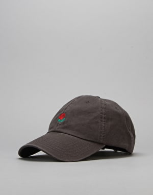 The Hundreds Rose Strapback Cap - Charcoal