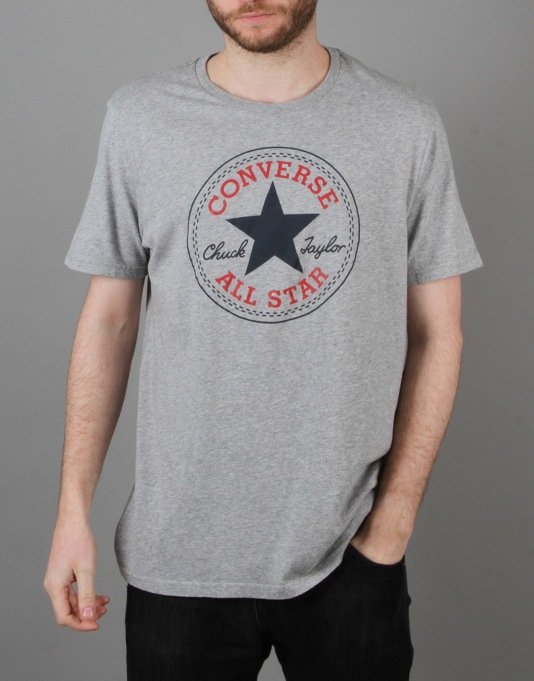 Converse Core CP Crew T-Shirt - Vintage Grey Heather