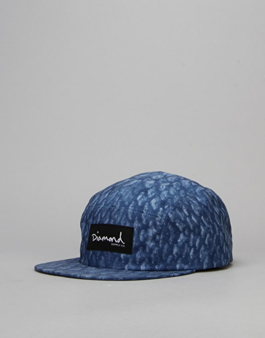 Diamond Supply Co. Fish Scale 5 Panel Cap - Navy