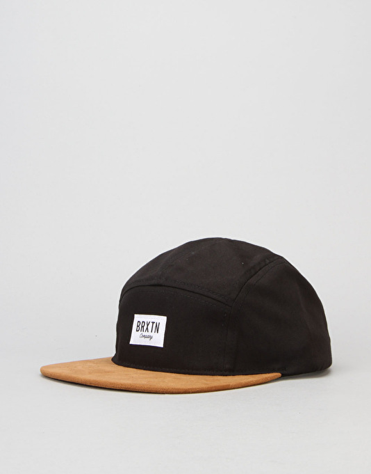 Brixton Hoover 5 Panel Cap - Black/Copper