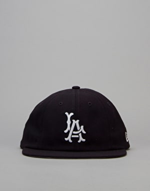 New Era 19Twenty MLB LA Angels Vintage 8 Panel Fitted Cap - Navy