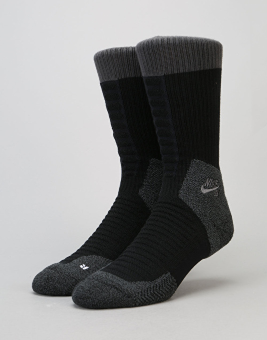Nike SB Elite SB Skate 2.0 Crew Socks - Black/Anthracite/Anthracite
