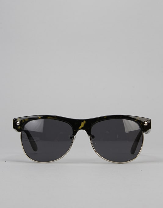 Glassy Sunhater Shredder Sunglasses - Olive/Tortoise