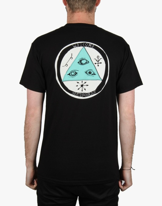 Welcome Talisman Tri- Color T-Shirt - Black/Teal/White
