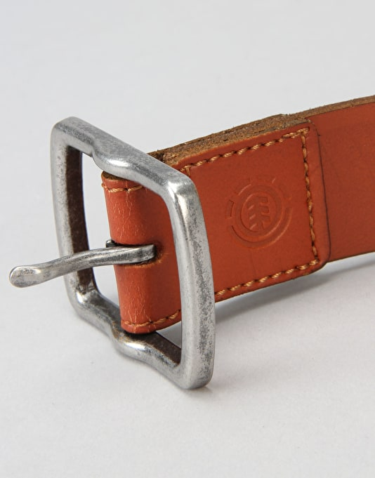 Element Alter Leather Belt - Brown
