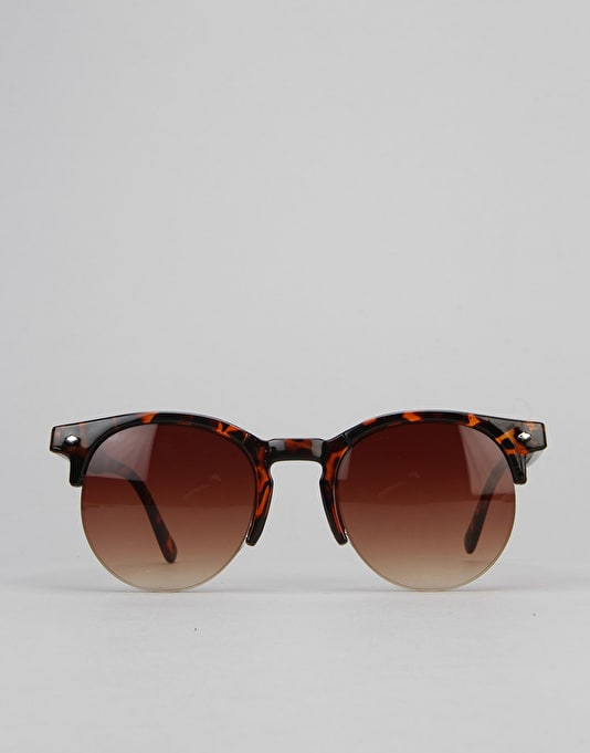 Route One Basics Clubmaster 2.0 Sunglasses - Tortoise