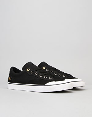 Emerica Indicator Low Skate Shoes - Black/White