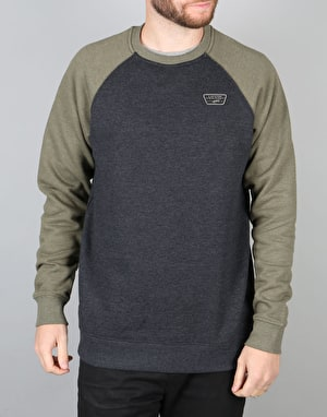 Vans Rutland Crew Sweatshirt - Black Heather/Grape Leaf Heather